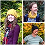 Stuck for a last-minute gift?Discover easy-to-knit patterns that you can knit up in less than a day. This collection of May's patterns includes knitting patterns for beautifully warm hats, scarves, wrist warmers, a snood and fingerless gloves...