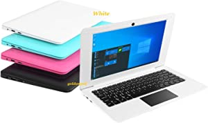 Goldengulf Windows 10 Computer Laptop Mini 10.1 Inch 32GB Ultra Thin and Light Netbook Intel Quad Core CPU PC HDMI WiFi USB Netflix YouTube (White)