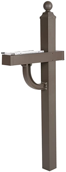 aluminum mailbox post. Solar Group AP00BZ01 Arden Post With Mounting Bracket Aluminum And Injection Molded Construction, Bronze Mailbox P