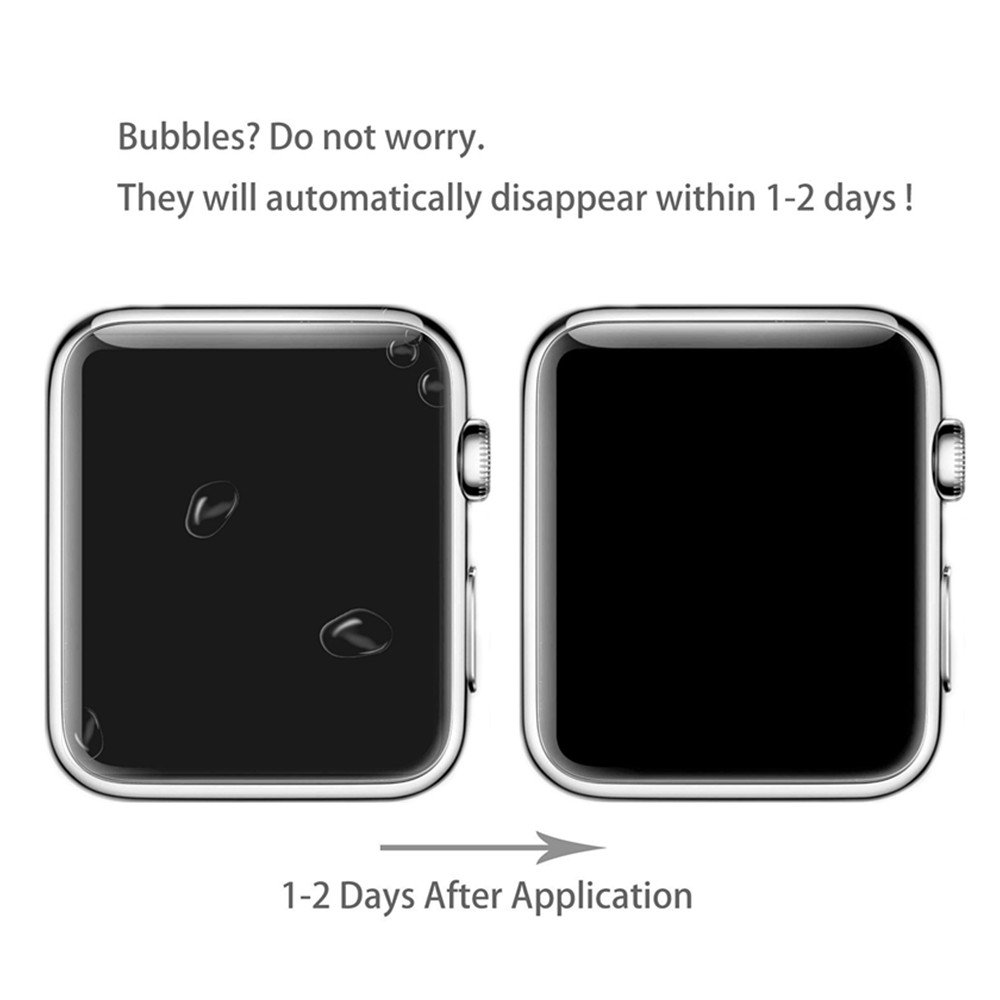 [6 PACK] Apple Watch Screen Protector 38mm Series 3 2 1, KAMII Full Coverage Anti-Bubble Self-Healing Case Friendly HD Clear Film Screen Protector for Apple Watch 38mm by KAMII (Image #6)