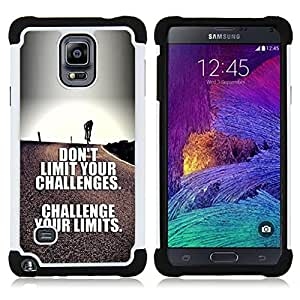 - challenge your limits inspirational text - - Doble capa caja de la armadura Defender FOR Samsung Galaxy Note 4 SM-N910 N910 RetroCandy