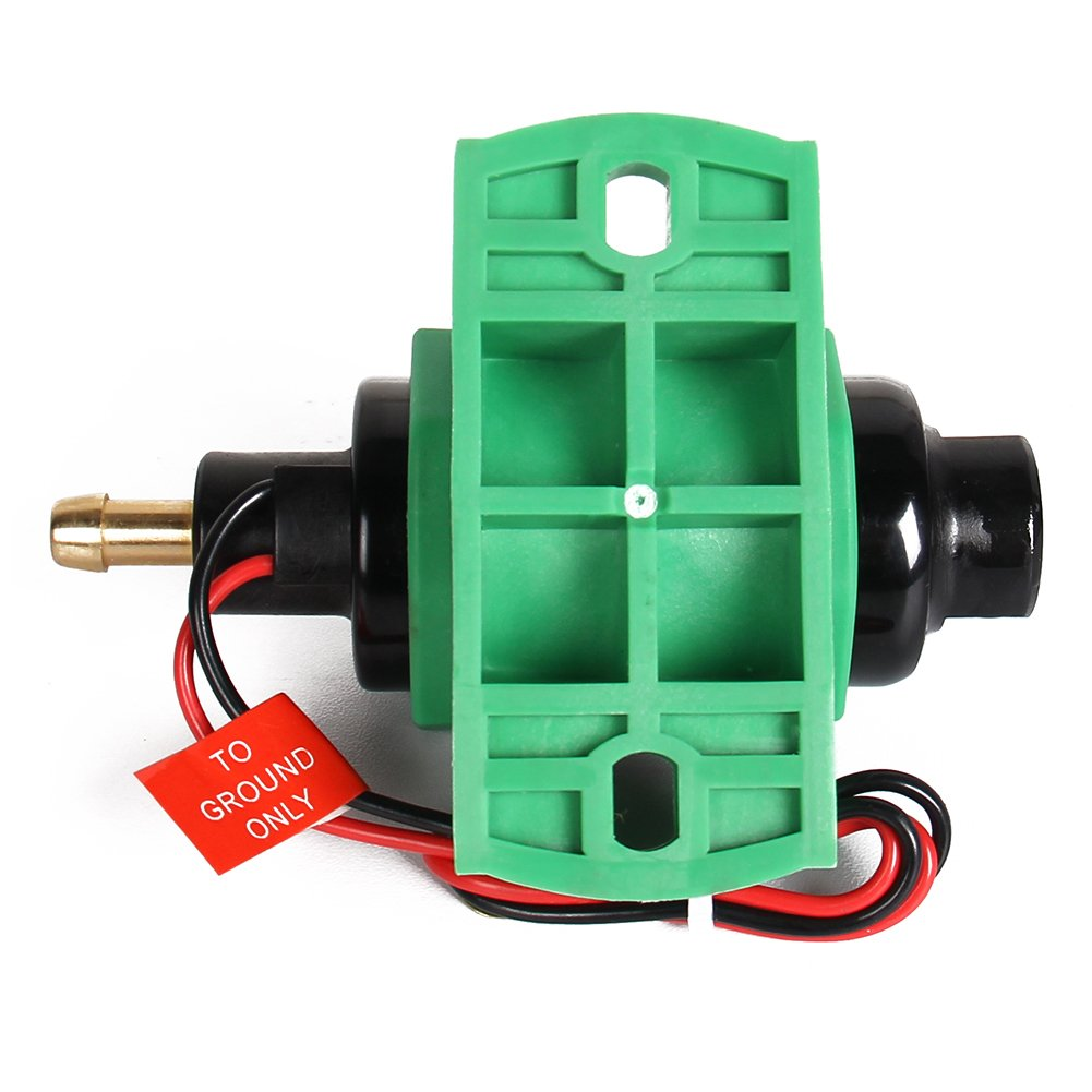 CarBole Micro Electric Gasoline Fuel Pump Universal 5//16 inch Inlet and Outlet 12V 1-2A 35GPH 4-7 P.S.I Operating Fuel Pressure 2-wire Design