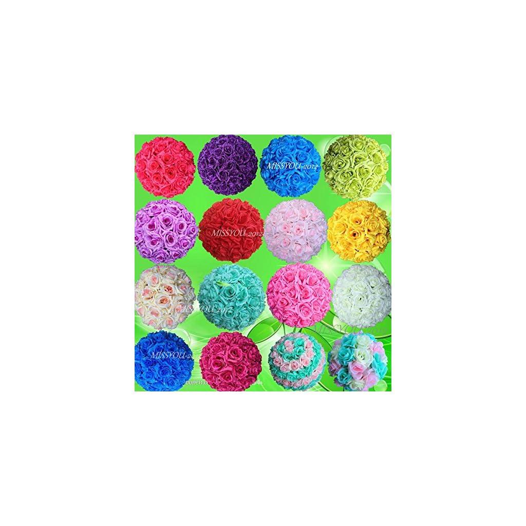 10-PCS-HOT-SELL-Colorful-High-Quality-15-40CM-Rose-Pomander-Flower-Kissing-Ball