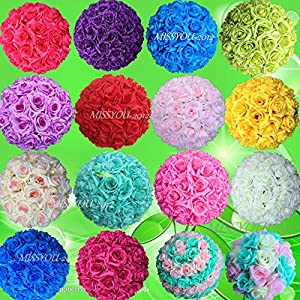 10 PCS HOT SELL Colorful High ,Quality 15-40CM Rose Pomander Flower Kissing Ball 27