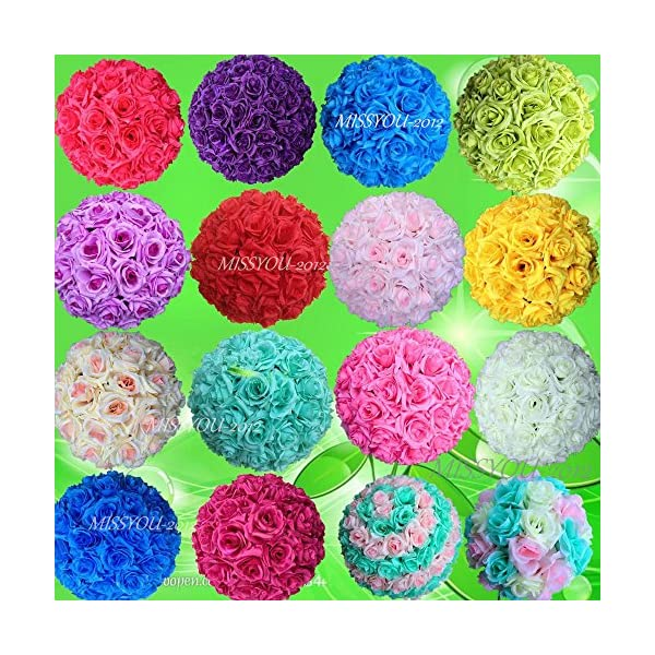 10-PCS-HOT-SELL-Colorful-High-Quality-15-40CM-Rose-Pomander-Flower-Kissing-Ball
