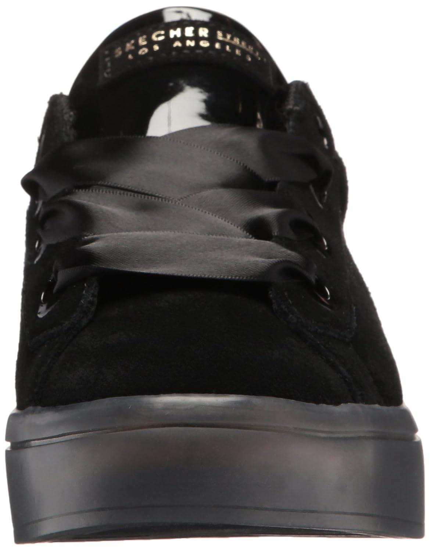 Skechers Women's B0741R8M19 Hi-Lite-Suede Satin Sneaker B0741R8M19 Women's 7.5 B(M) US|Black/Black aa3b9f