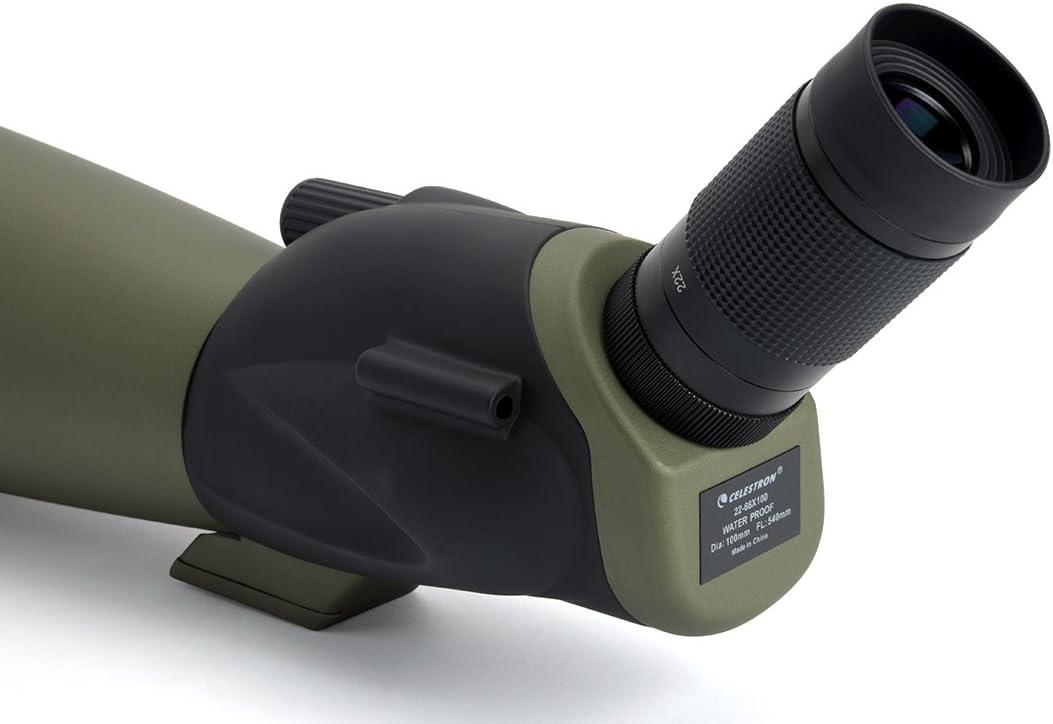Celestron trailseeker 100-45 grados de ángulo de observación de aves telescopio terrestre