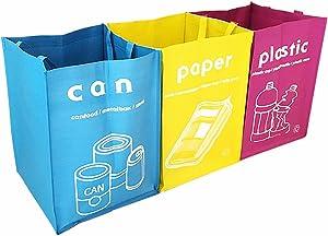 GARASANI Waterproof Separate Recycle Bag Waste Baskets 3 Set (B Type)