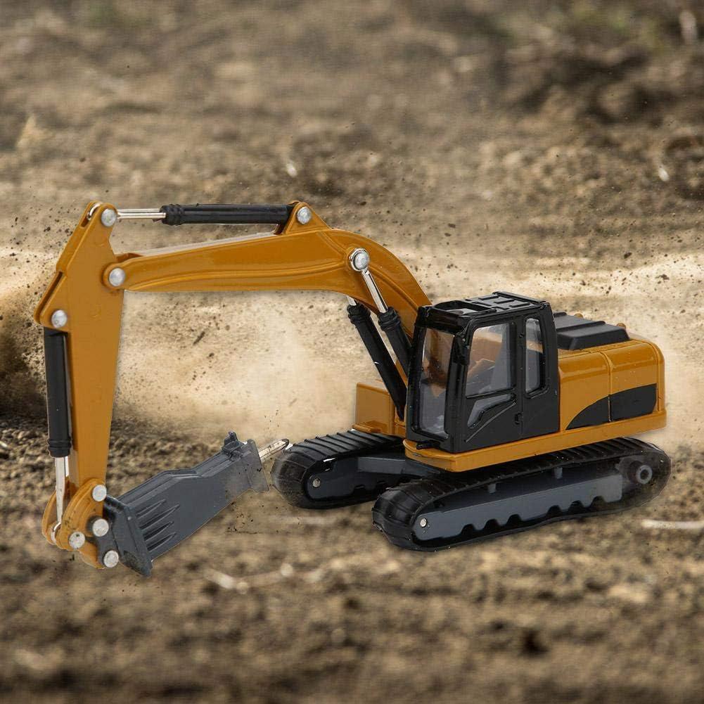 Frantumatore per Terreno da Costruzione in Lega 1:60 Giocattolo per Escavatore Cingolato Pressofuso Regalo di Festa per Bambini sopra I 3 Anni