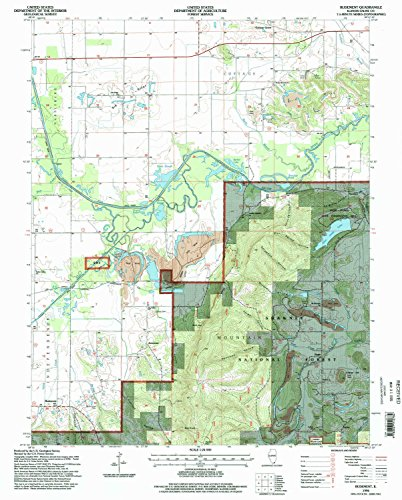 Rudement IL topo map, 1:24000 scale, 7.5 X 7.5 Minute, Historical, 1996, updated 1998, 26.8 x 21.5 IN - - Village Hills Stores South
