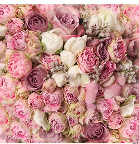 TMOTN 8x8ft Rose Floral Wall Wedding Photography Backdrop Vinyl Pink Flowers Wall Photo Backdrop Studio Prop D1571