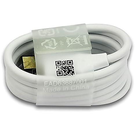 Cable de datos USB para LG G5, LG G6, LG Nexus 5X, LG Nexus 6 (color blanco, Bulk)