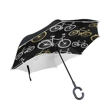 jstel doble capa puede bicicleta paraguas coches Reverse resistente al viento lluvia paraguas para coche al