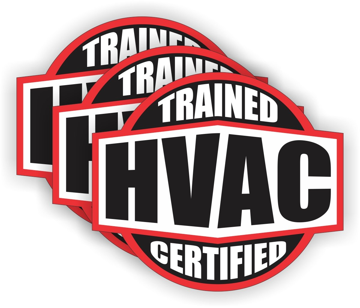Hvac trained certified hard hat stickers helmet decals labels emblems badges toolbox heating cooling amazon com