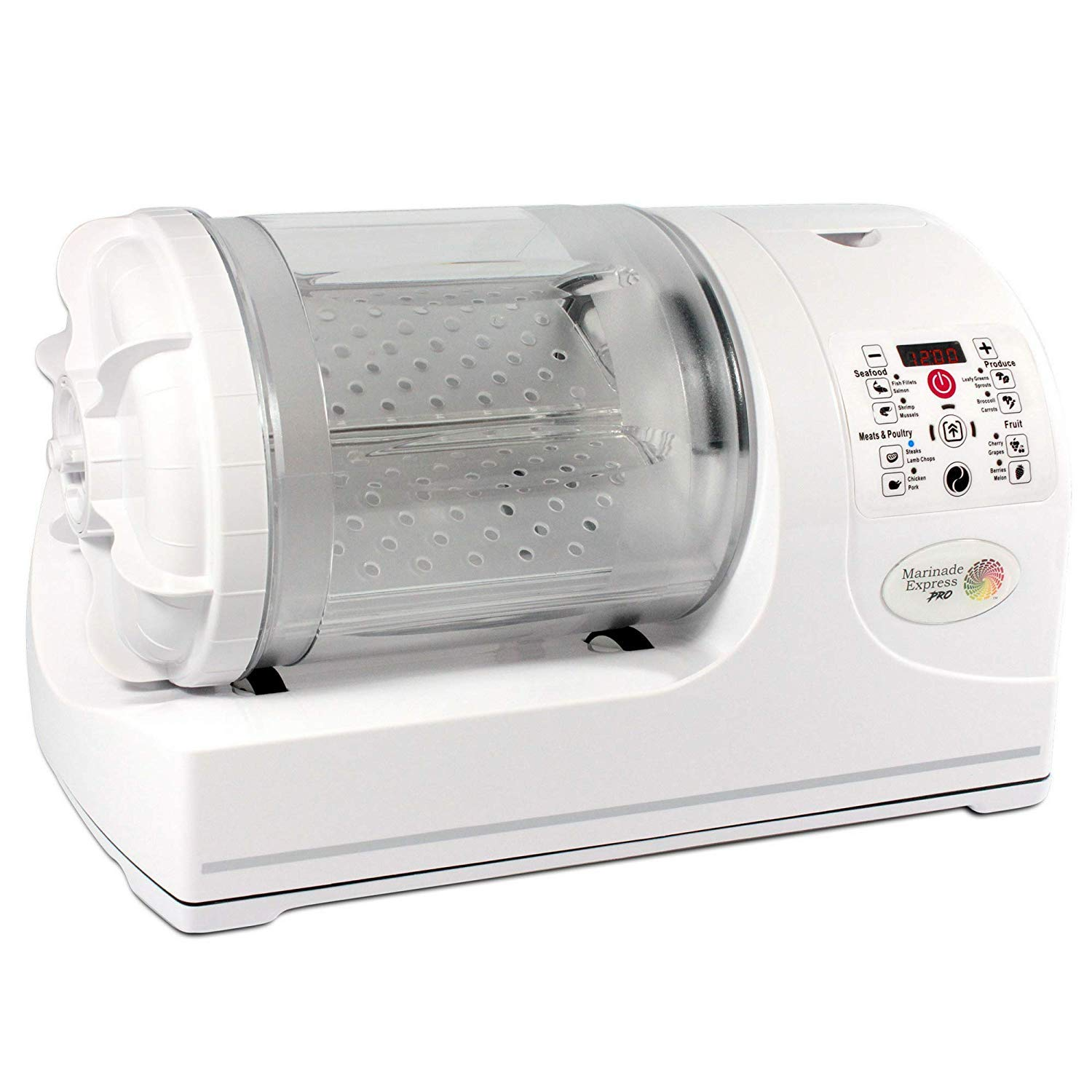 Marinade Express Pro PMP-310 Professional Marinade System, Vacuum Sealed, Meat and Vegetable Tenderizer, Titan Drum, Canister Sealed, LED Display, Professional Chef Technology, Auto Shut Off, White
