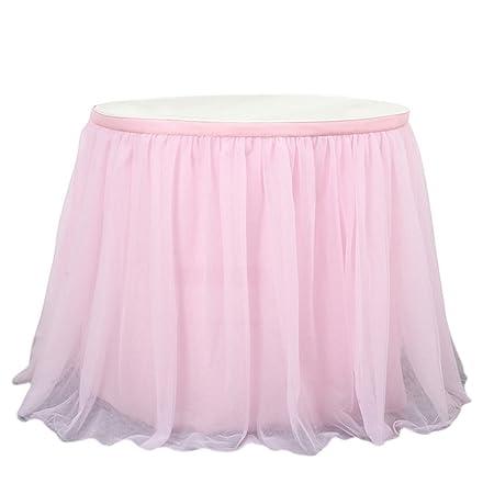 enerhu falda de mesa Elégant en tul adorno boda ceremonia, Rose ...