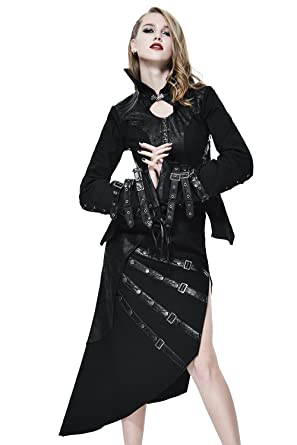 47155593435af8 Gothic Damen Sexy Persönlichkeit Neuheit Schwarz Mantel Mit Gürtelschnalle  Steampunk Lady Cocktail Jacke Charming Tops Mit