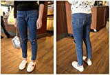 Sitmptol Girls Stretchy Jeans Kids Ripped Denim
