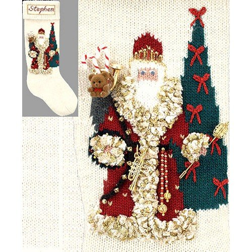 Heirloom Stocking - Elegant Heirlooms Christmas Stockings Kits Father Christmas