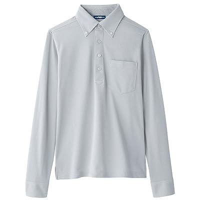 (コーコス) CO-COS 鹿の子 長袖 ボタンダウン ポロシャツ オフィス向け (A-278) (SS・Sサイズシルエットは女性用) 【SS~5Lサイズ展開】