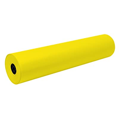 Pacon Decorol Art Paper Roll, 3-Feet by 500-Feet, Yellow (100591): Industrial & Scientific