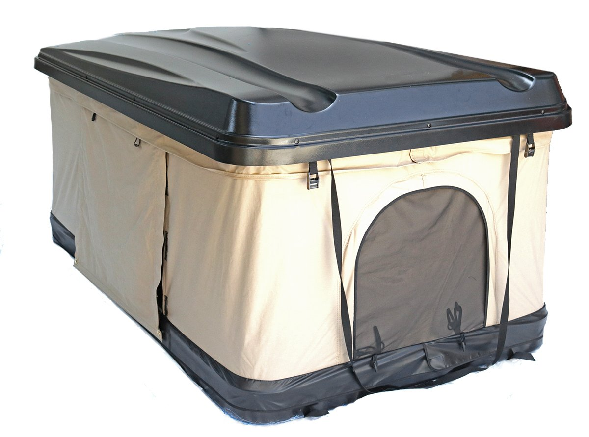 Beige Pop Up Roof Tent Universal for Cars Trucks SUVs Camping Travel Mobile