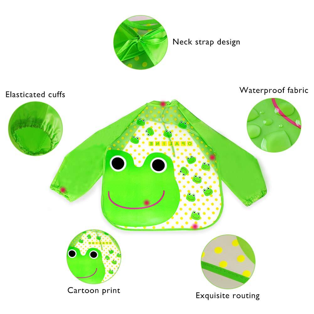 Unisex impermeable infantil del bebé Batas de dibujos ...