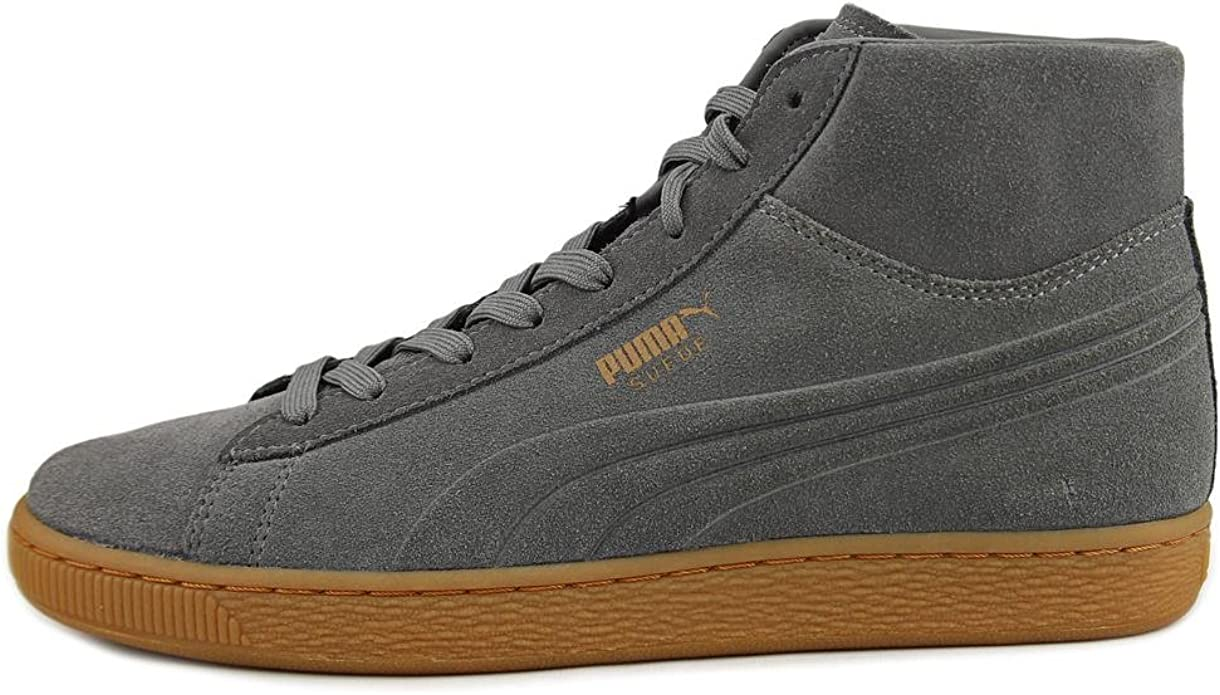 PUMA Mens Suede MID Shoes Grey Gum Size