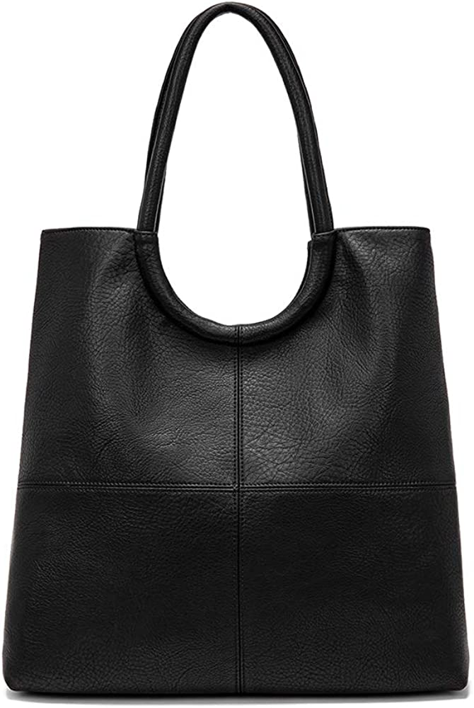 """Women's elegant PU Tote, Faux Leather Double Compartment 14"""" Laptop Business Tote multi-pocket"""