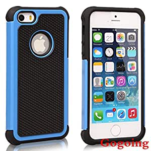 iPhone 5S Case, iPhone 5 Case,Gogoing Luxury Fashion Dual Layer Hybrid Shockproof Case for Apple iPhone 5 5S (Dark Blue)