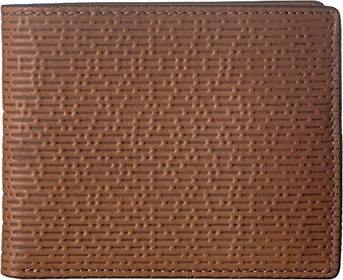 Fossil Embossed Wallet - Fossil Men's Coby Bifold Flip ID Cognac One Size