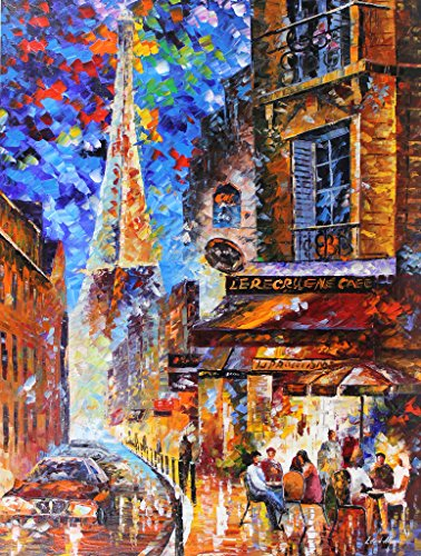 Paris recruitment Café 2 is a ONE-OF-A-KIND, ORIGINAL OIL PAINTING ON CANVAS by Leonid AFREMOV …