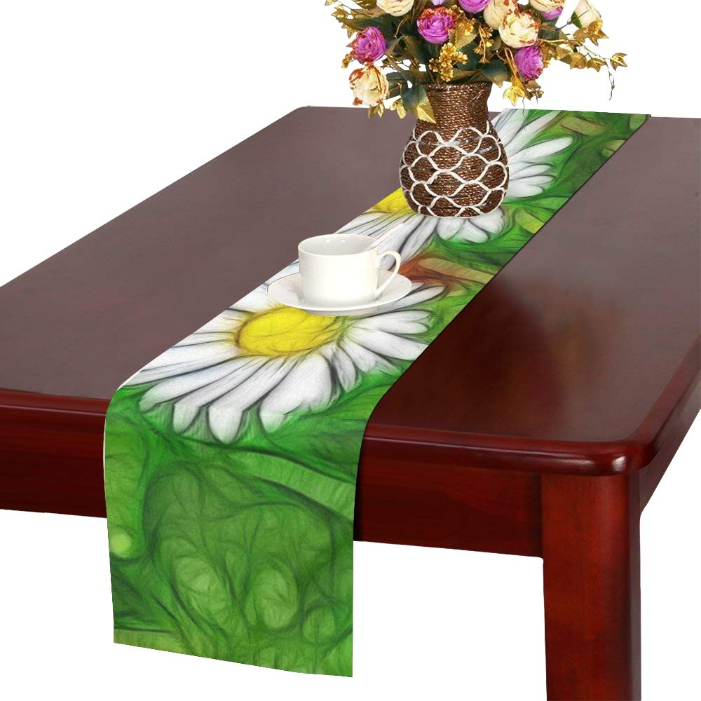 Jnseff Margaritas Abstract Wild Nature Plant Color Table Runner, Kitchen Dining Table Runner 16 X 72 Inch For Dinner Parties, Events, Decor