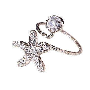 3b1d93fb295 Amazon.com : Stylish Finger Nail Ring Nail Decoration Adjustable ...