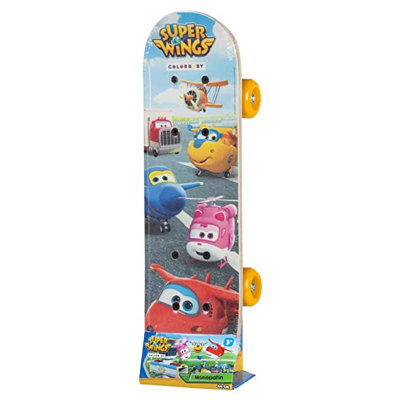 Super Wings - Monopatín 44 cm (ColorBaby 77014)