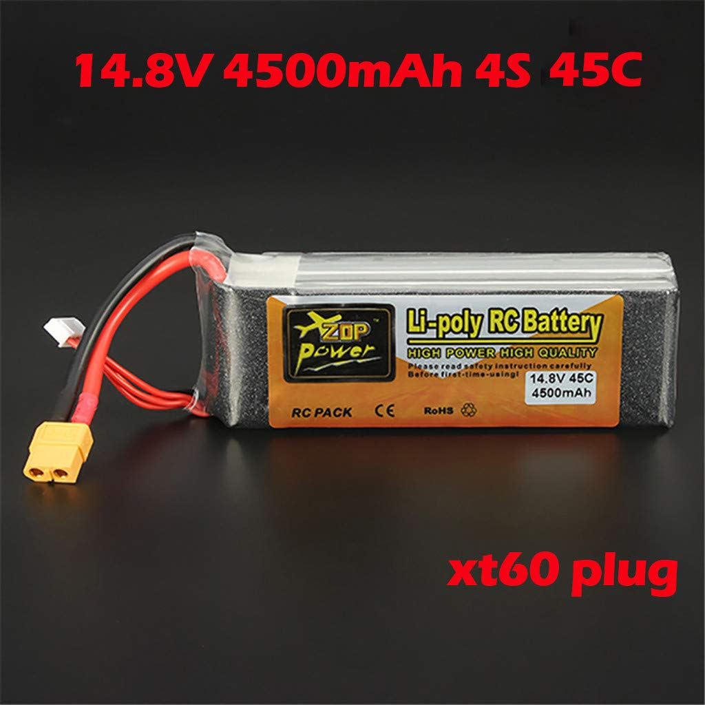 Giokfine 2019 ZOP Power 14.8V 4500mAh 4S 45C Battery XT60 Plug for RC Car Helicopter Part by Giokfine (Image #2)