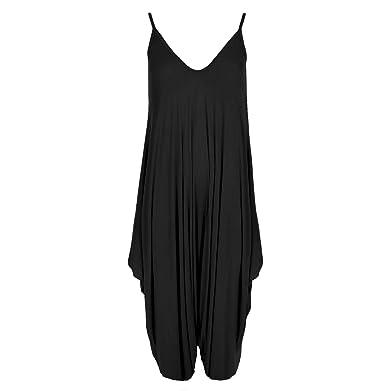 5daff80524b3 paramount-fashion Ladies Women Strappy Harem Baggy Jumpsuit  Amazon.co.uk   Clothing