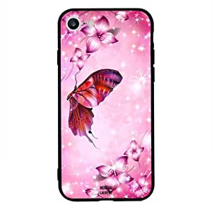 iPhone 6/ 6s Case Cover Pink Floral And Butterfly, Moreau Laurent Protective Casing Premium Design Covers & Cases
