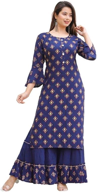Party Wear Dresses Black Kurti Heavy Kurti Salwar Kameez Cotton Kurti Set Gharara Set Indian Black Kurti Set Bell