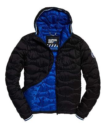 Superdry Veste Wave Quilt Black: : Vêtements et