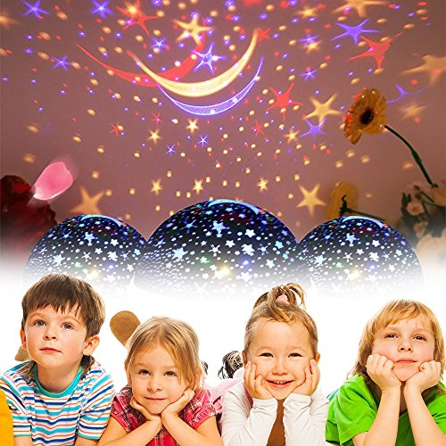 Toys for 2-10 Year Old Boys, Ouwen Star Rotating Night Light for Kids Toys for 2-10 Year Old Girls 2-10 Year Old Girls Gifts 2-10 Year Old Boys Gifts Blue OWUSNL001 by Ouwen (Image #3)