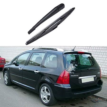 Brazo lámina para el 307 2001-2008 posterior del coche del parabrisas limpiaparabrisas piezas auto duradero: Amazon.es: Coche y moto