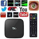 Amlogic TX1 Quad Core Smart TV Box With Xbmc Pre-installed Android 4.4 Kitkat System H.265 Wifi LAN Miracast Airplay Player 1G RAM 8G ROM (TX1 S805).