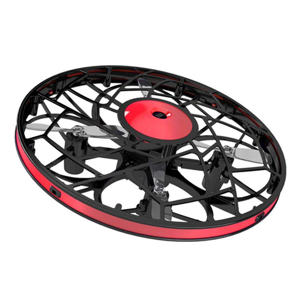 WanNing Cuatro Ejes UFO Mini Drone Flying Saucer Sensor Ni/ños Adultos Gesto de inducci/ón Gesto