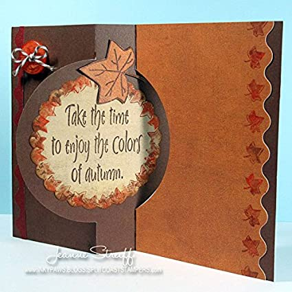 Leaves4Fall Sentiments Halloween Tree Fall Stamps for Card-Making and Scrapbooking Supplies by The Stamps of Life