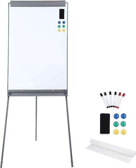 Amazon.com: Pizarra blanca magnética de pie - Pizarra blanca ...