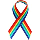 Rainbow Fabric Awareness Ribbons - Bag of 250 Fabric Ribbons w/ Safety Pins