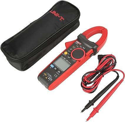UNI-T UT216 Multimetro Pinza Digitale Clamp Meter Pinza Amperometrica Digitale Multimetro Digitale Tester AC//DC UT216C Auto-Ranging Pinza Multimetro Tensione Corrente Voltmetro Amperometro
