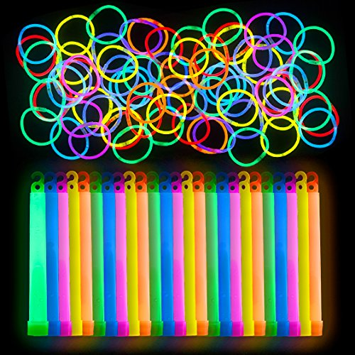 Lumistick Glow Sticks 125 Piece Premium VIP Event Planning Party Pack Glowsticks and -