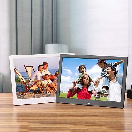 Dayangiii 8 inch Digital Photo Frame Electronic Photo Frame Digital Picture Frame with Remote Control Motion Sensor SD Card Video Player,White,UK